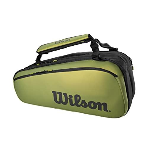 WILSON - Borsa da tennis Super Tour 9PK Blade, colore: Verde/Nero AH 2021
