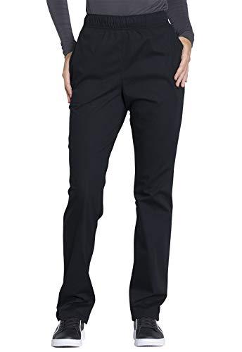 Cherokee Workwear Professionals Natural Rise Tapered Leg Drawstring Scrub Pant, M, Black