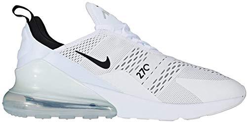 Nike Herren AIR MAX 270 Laufschuhe, Weiß (White/Black-White 100), 42.5 EU