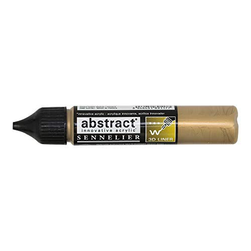 Sennelier Abstract Acrylic 3D Liner 27ml (Iridescent Gold)