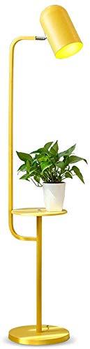 Gele Vloerlamp - Macaron Woonkamer Sofa Verticale Kleine Bureau LED Slaapkamer Studie Plank Vloerlamp (Kleur : Wit)