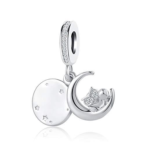 SBI Jewelry Owl Charm for Bracelets Star Moon Dangle Charm Gift for Women Girls Mum Birthday Mother's Day