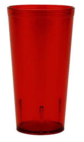 Red 20 oz. Plastic Tumblers, Break Resistant, 6620-1-R-EC (Pack of 4)