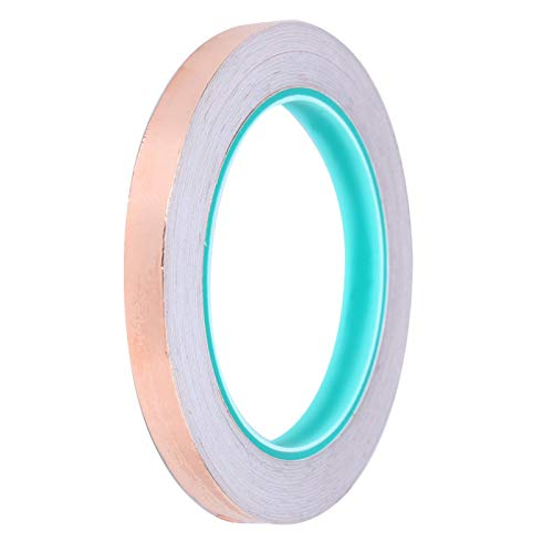 Kupferfolienband, leitfähiges Kupferfolienklebeband für Buntglasscheiben Elektromagnetische Abschirmung 10mmx20m