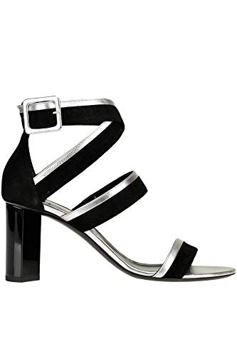 PIERRE HARDY Suede and metallic Effect Leather Sandals Woman Black 40 IT