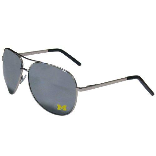 NCAA Siskiyou Sports Fan Shop Michigan Wolverines Aviator Sunglasses One Size Silver
