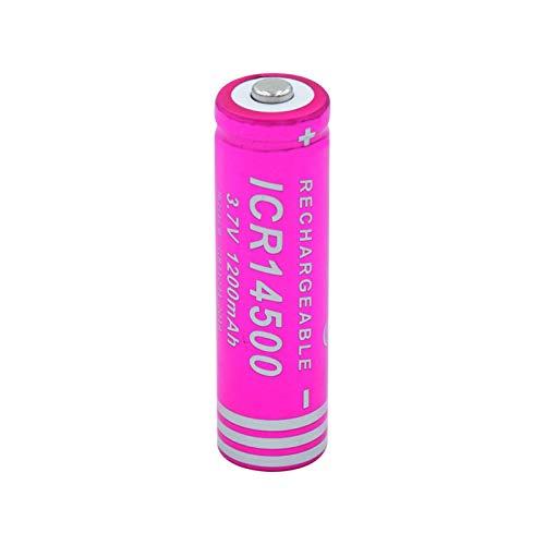 josiedf BateríAs De Iones De Litio De Litio De 3.7v 1200mah 14500, Batería Recargable para El Banco del Poder De La Linterna del LED 1piece