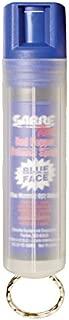 Sabre Red Spray de Pimienta–Fuerza de policía–con Tinte Azul y Transparente Funda de Llave