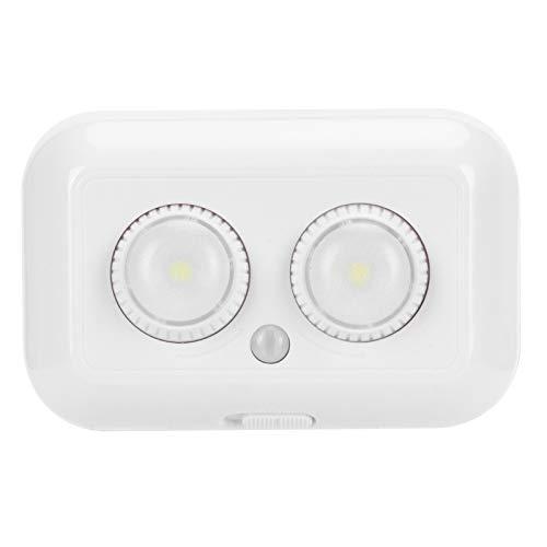 Luces con sensor de movimiento PIR, 2 luces con sensor de iluminación LED, gabinetes, escaleras, terrazas, balcones, luces con sensor de movimiento ABS para garaje