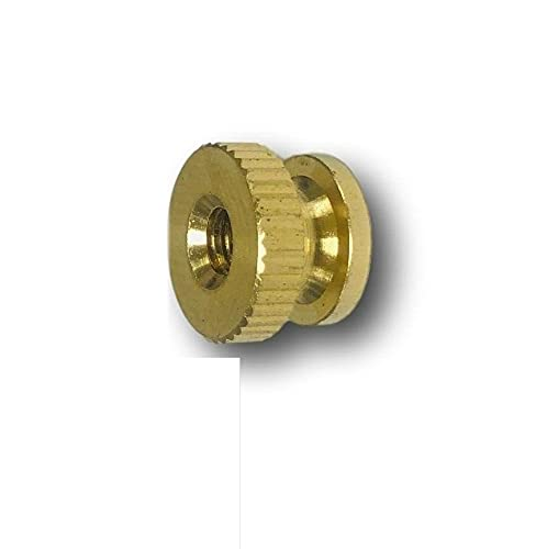 Pr-Mch Max 63% OFF Package of 100 5% OFF 8-32 Brass UNC Solid Nut Thumb De Knurled
