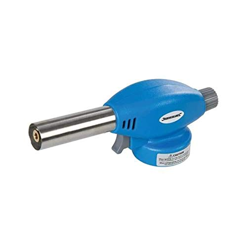 Silverline EN417 Gaslötbrenner Butan, blau