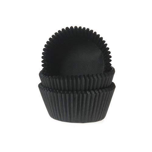 Tasty Cooky Shop Lot de 50 caissettes à muffins en papier noir