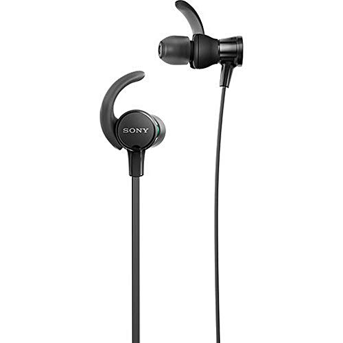 Sony MDRXB510AS/B Extra Bass Wired Headphones, Best Sports Headphones W/Mic IPX5 Stereo Sweatproof Earbuds Durable Comfortable Gym Running Workout, Black
