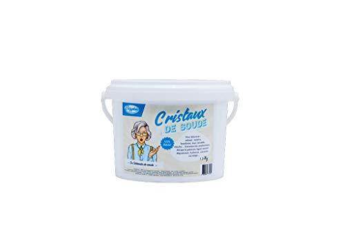 VOZYDEO CDS15 Polvo De Cristales De Sosa, Cubo + Guía Del Usuario, Caja Hermética, Limpiador Multiusos 100% Natural, Ecológico Y Multifunción, Blanco, 1.5 Kg