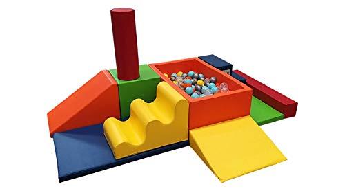 Kit Básico de Estimulación Temprana Marca Kids Colors 11 piezas + 100 pelotas de regalo