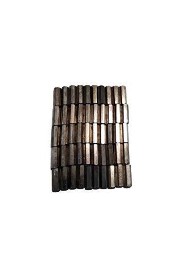 "1/4"" OD Hex Standoffs (Female-Female) 6-32 x 3/4""/Brass/Nickel/Outer Diameter: 1/4"" Thread Size: 6-32/ Length: 3/4"" (50 pcs)"