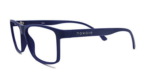 NOWAVE Gafas Neutras para PC, Smartphone, TV y Gaming | Eliminan la Fatiga y la irritación Visual | Gafas Anti LUZ Azul y UV para Pantalla | Filtro luz Azul de Descanso para pc | Unisex,Ligera y Azul