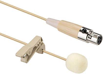 Sujeetec Lapel Lavalier Microphone Mini XLR 3 Pin TA3F Plug Omnidirectional Clip on Condenser product image