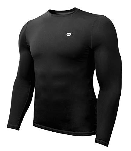 Zengjo Long Sleeve Undershirt Men(M,Black)