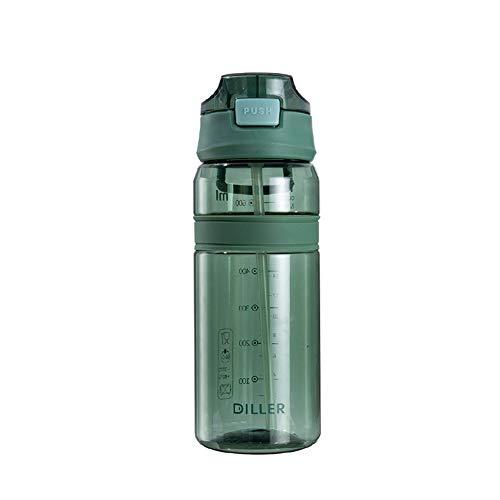 Botella Agua Gimnasio Botella Agua Deporte Pequeña Botella de Agua Botella de Agua Corriendo Botella Los niños Botellas de Agua green1,700ml
