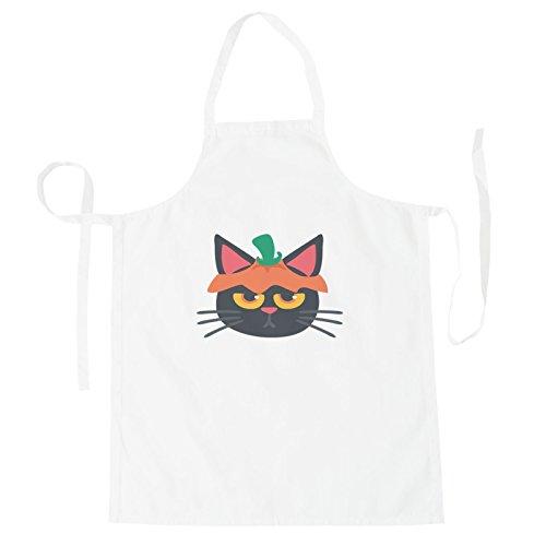 INNOGLEN Katze Halloween Smile Schürze r547b
