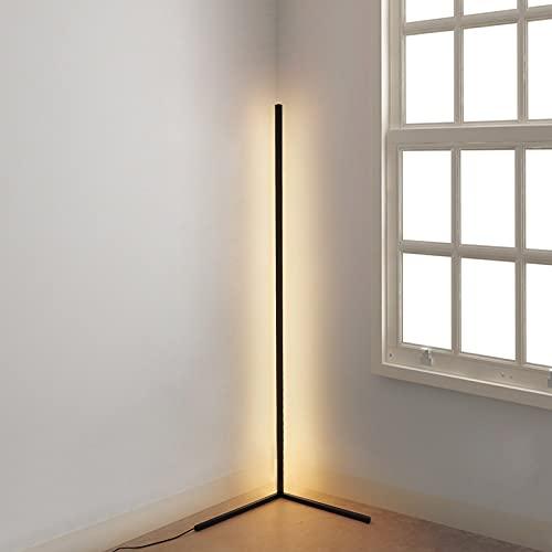 フロアランプ 無段階調色調光 間接照明 フロアライト スタンド 3色照明効果 北欧風 省エネ ledフロアライト 床置き/ダイニング/寝室リモコン付き おしゃれ シンプル 日本語取扱説明書付(ブラック)