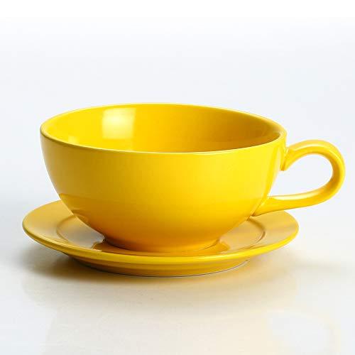 Verdickte Keramik Farbe Glasur Latte Kaffeetasse Girlande Kaffeetasse Cappuccino Tasse Untertasse Tasse