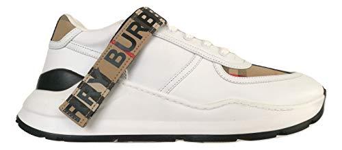 Burberry Zapatillas De Hombre De Tela Y Piel Beige - Blanco 4500548276 Size: 40 Eu