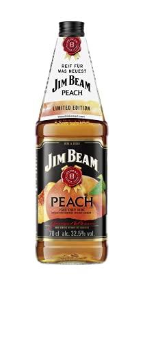 Jim Beam Peach - Kentucky Straight Bourbon Whiskey vermählt mit fruchtigem Pfirsichgeschmack, 32.5% Vol, 1 x 0,7l