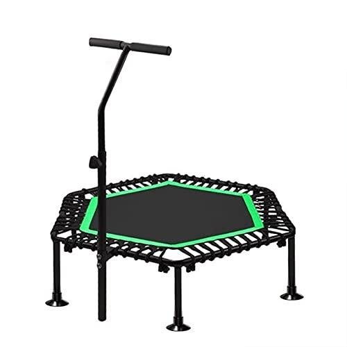 ELISYG Camas Elasticas, Plegable Cama Elastica Exterior con Mango para Interiores Jardín Entrenamiento Cardio, Peso Máximo 200kg (Color : Green, Size : 50inch(126cm))