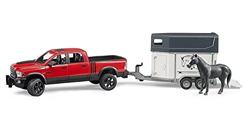 Bruder 02501 - RAM 2500 Power Wagon mit Pferdeanhänger und Pferd