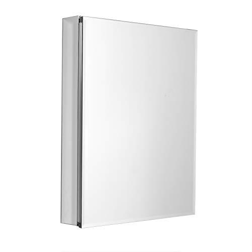 ZPC Zenith Products Corporation Frameless Designer Series by Zenith Aluminum Beveled Mirror Medicine Cabinet 24 x 30 24 x 30