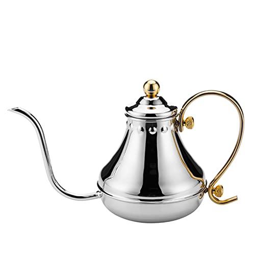 DOFCOC Stainless Steel Pour Over Coffee & Tea Kettle Gooseneck Tea Kettle, Pour over Kettle for Kitchen Appliances & Dorm Essentials