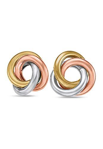 CHRIST Gold Damen-Ohrstecker 333er Gelbgold, 333er Weißgold, 333er Rotgold One Size 84972622