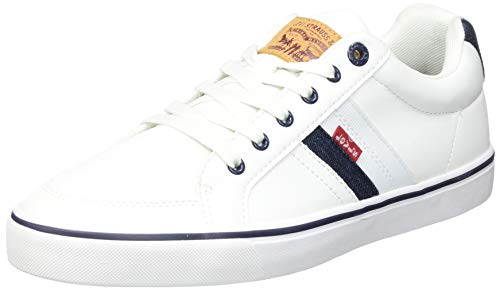 LEVIS FOOTWEAR AND ACCESORIAS Turner, Zapatillas Hombre, Blanco, 44