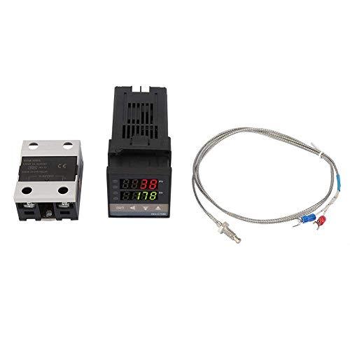 YELLAYBY Alarma Rex-C100 Digital LED PID Controlador de temperatura Termostato Kit de termostato AC110V-240V 0  ~ 1300