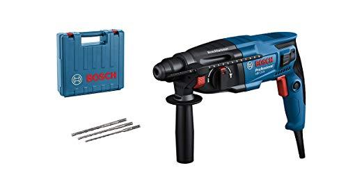 Bosch Professional GBH 2-21 - Martillo perforador combinado (2 J, Ø máx. hormigón 21 mm, SDS plus, 3 brocas SDS plus, en maletín)