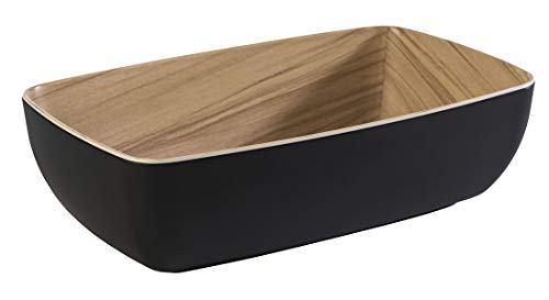"""APS Schale """"Frida"""", 1/4 Bowl, Melamin Schale, für 1,8 Liter Inhalt, 26,5 x 16,2 cm, 7,5 cm Höhe, schwarz"""