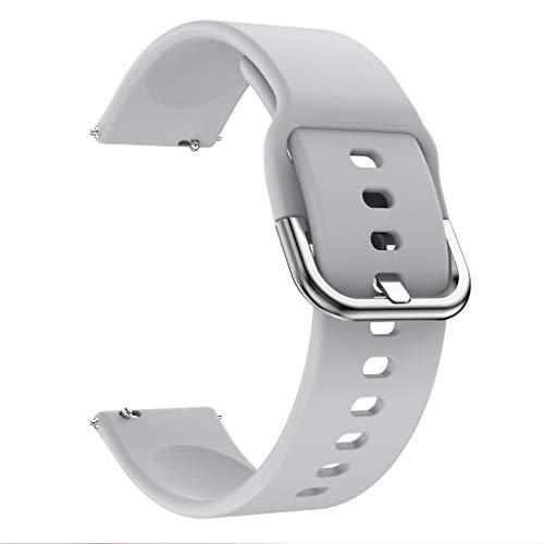 Für Samsung Galaxy Watch Active Silikon Uhrenarmband, Armband Schnellverschluss Ersatzband Mehrfarbig Watch Armband Uhr Ersatzarmbände Uhrenarmbänder Handschlaufe (Grau)