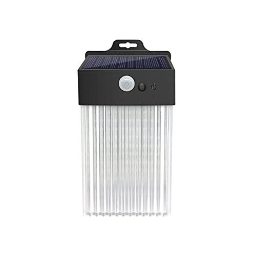 Lámpara de Pared Sensor Solar, Villa Patio Balcón Inicio Al Aire Libre Valla Impermeable Escalera Aisle Wall Street Lamp, 15.9x8.5x5.8cm