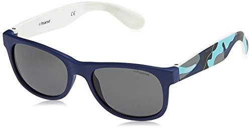 Polaroid P0300 Y2 T6D Gafas de sol, Azul (Bluette Camouflage Blue/Grey Polarized), 43 Unisex Niños