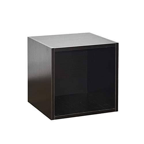 Nai-storage LP Gabinete apilable Dormitorio Sala CD Soporte de exhibición Cafetería Caja de colección de Discos de Vinilo (Color : Black, Size : 35.5 * 34 * 35.5cm)