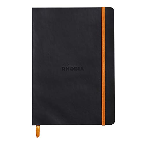 Rhodia 117452C - Cuaderno flexible, color negro