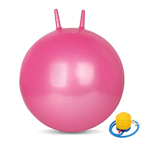Uooeg 65cm Anti-Burst Yoga Ball für Kinder Hüpfball Schwangere Frauen Hebammen Fitness Ball mit Pumpe-Pink65cm