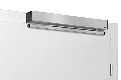 Hörmann 4511901 Türantrieb / Türöffner PortaMatic für 1-flüglige Türen | + Befestigungsmaterial | sehr leise / geringer Energieverbrauch / LED-Beleuchtung / links- rechts verwendbar | Farbe: Silber
