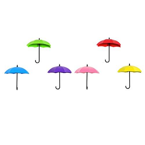 Vosarea 3pcs Mur de Parapluie coloré Crochet clé épingle à Cheveux Titulaire Organisateur Crochet décoratif (Couleur aléatoire)