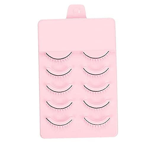 Hainice Eye Lashes 3D Mink Fluffy Wiederverwendbare Künstliche Wimpern weiche künstliche Art und Weise Make-up-Peitsche für Cosplay Partei-Fotografie 5 Paare Weiß