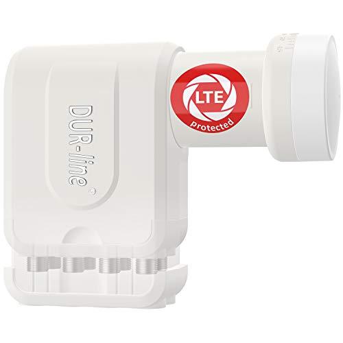 Dur-Line Ultra LNB - Con LTE Filtro X-Way, digitale, Full Hd, 4K, 3D, vincitore Premium Quality bianca 8TN (Octo)