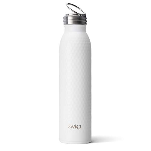 Swig Life 20oz Triple Insulated Stainless Steel Water Bottle with Ring Flip Handle, Dishwasher Safe, Double Wall, & Vacuum Sealed Reusable Water Tumbler in Golf Partee (Multiple Patterns Available)