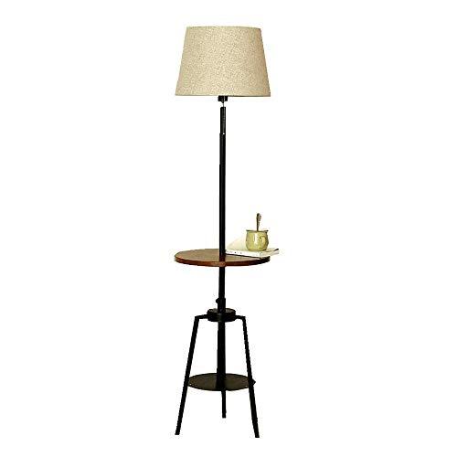 LEGELY staande lamp Moderne minimalistische interieurlamp, woonkamer slaapkamer decoratie zwart metalen schaduw, staande lamp met salontafel, E27